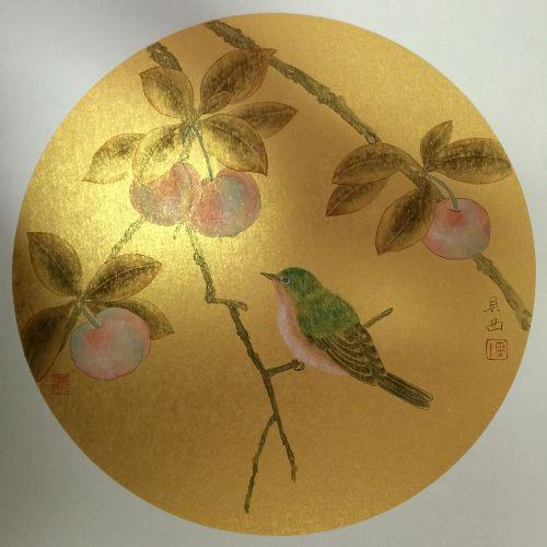 陈贝西-工笔花鸟