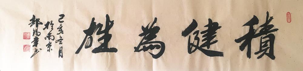 郭锡章将军书法-积健为雄34cn*136cm